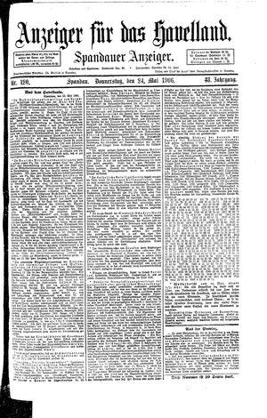 Anzeiger für das Havelland vom 24.05.1906