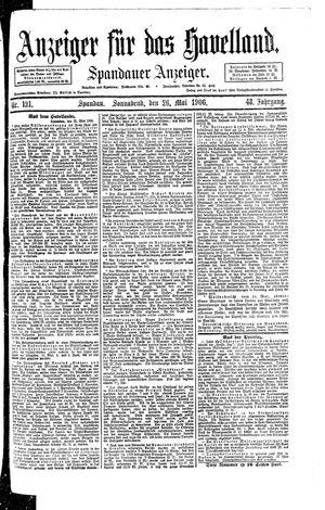 Anzeiger für das Havelland vom 26.05.1906