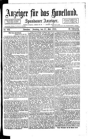 Anzeiger für das Havelland vom 27.05.1906