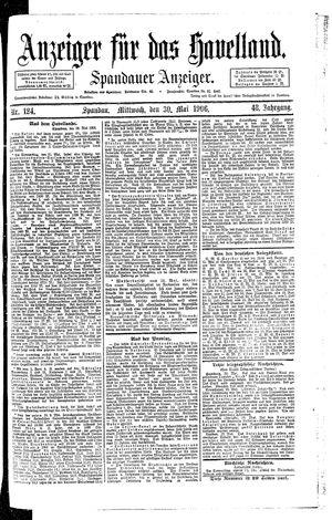 Anzeiger für das Havelland on May 30, 1906