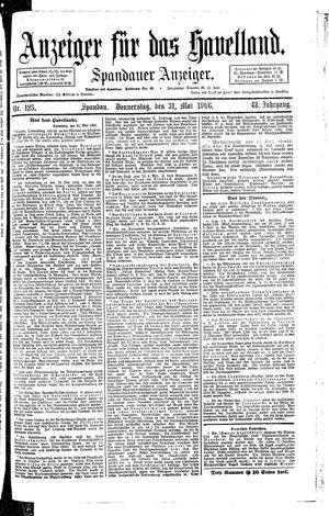 Anzeiger für das Havelland vom 31.05.1906