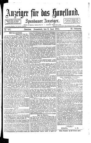 Anzeiger für das Havelland vom 02.06.1906