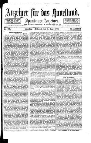 Anzeiger für das Havelland vom 06.06.1906