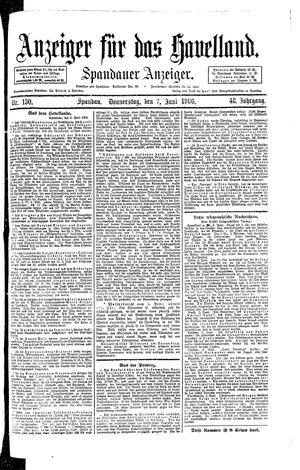 Anzeiger für das Havelland vom 07.06.1906