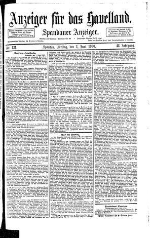 Anzeiger für das Havelland vom 08.06.1906
