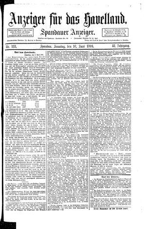 Anzeiger für das Havelland vom 10.06.1906