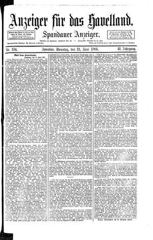 Anzeiger für das Havelland on Jun 12, 1906