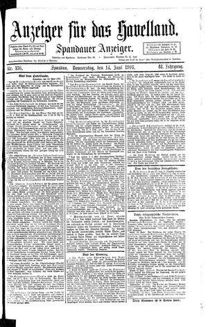 Anzeiger für das Havelland vom 14.06.1906