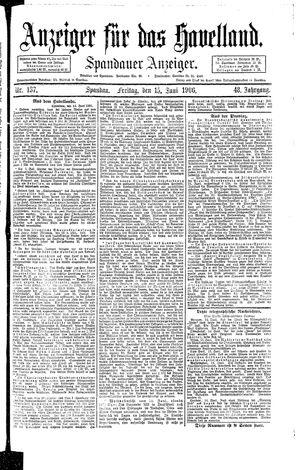 Anzeiger für das Havelland vom 15.06.1906