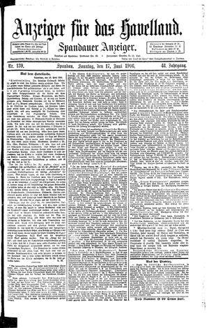 Anzeiger für das Havelland vom 17.06.1906