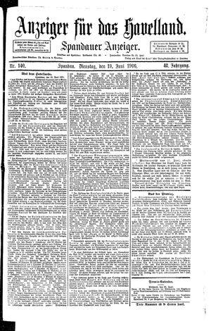 Anzeiger für das Havelland vom 19.06.1906