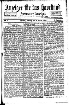 Anzeiger für das Havelland vom 08.01.1907