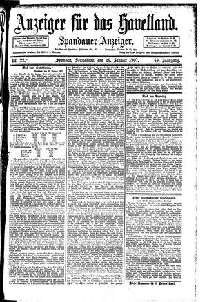 Anzeiger für das Havelland vom 26.01.1907