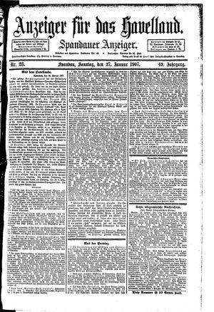 Anzeiger für das Havelland vom 27.01.1907