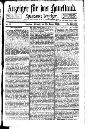 Anzeiger für das Havelland vom 30.01.1907