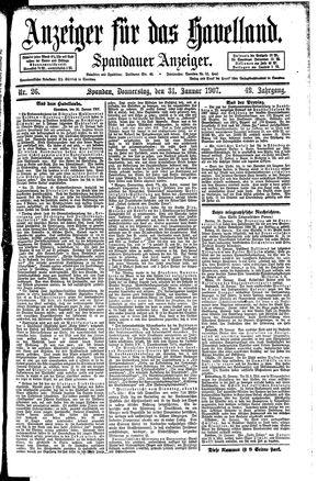 Anzeiger für das Havelland vom 31.01.1907