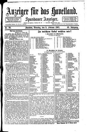 Anzeiger für das Havelland vom 05.02.1907