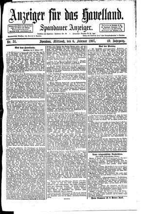 Anzeiger für das Havelland vom 06.02.1907