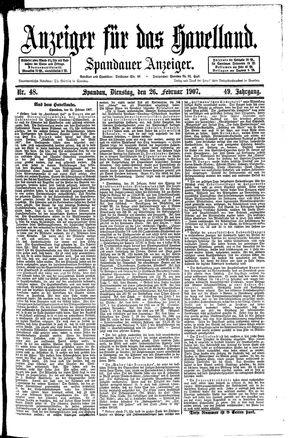 Anzeiger für das Havelland vom 26.02.1907