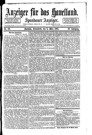Anzeiger für das Havelland vom 02.03.1907