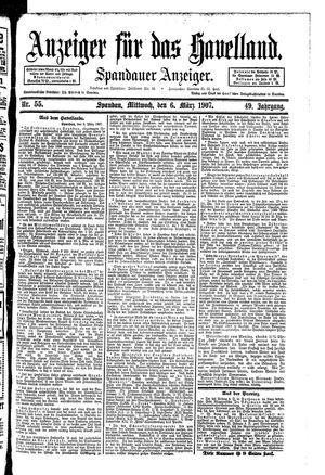 Anzeiger für das Havelland vom 06.03.1907