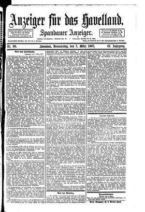 Anzeiger für das Havelland vom 07.03.1907
