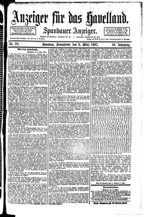 Anzeiger für das Havelland on Mar 9, 1907