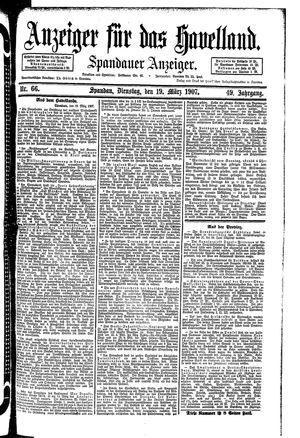 Anzeiger für das Havelland vom 19.03.1907