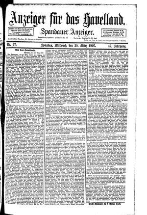 Anzeiger für das Havelland vom 20.03.1907