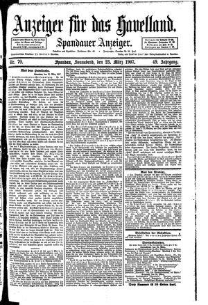 Anzeiger für das Havelland vom 23.03.1907