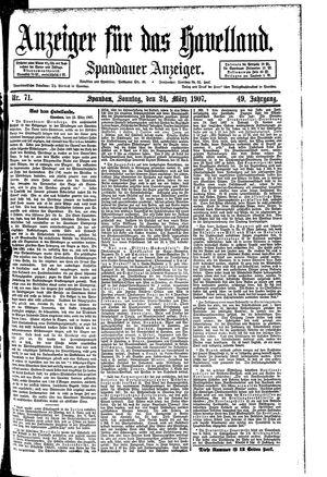 Anzeiger für das Havelland vom 24.03.1907
