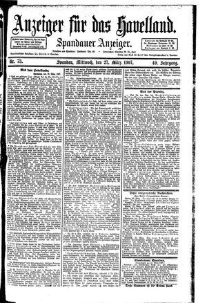 Anzeiger für das Havelland vom 27.03.1907