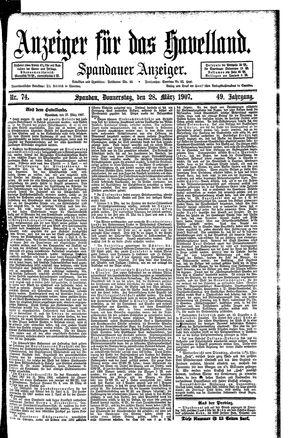 Anzeiger für das Havelland vom 28.03.1907