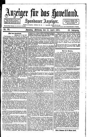 Anzeiger für das Havelland vom 17.04.1907
