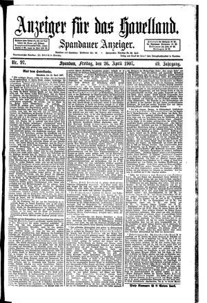 Anzeiger für das Havelland vom 26.04.1907