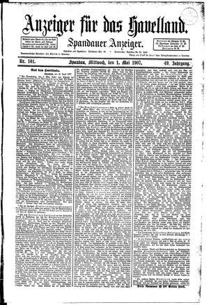 Anzeiger für das Havelland vom 01.05.1907