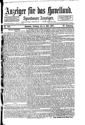 Anzeiger für das Havelland vom 05.05.1907
