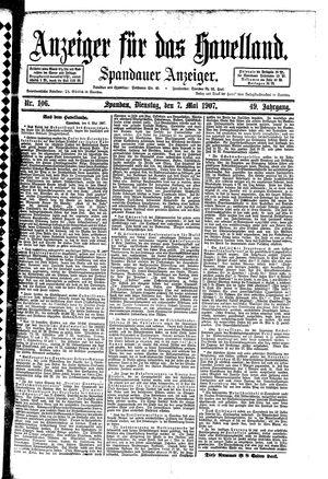 Anzeiger für das Havelland vom 07.05.1907