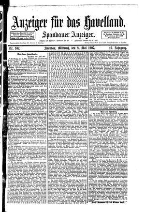Anzeiger für das Havelland vom 08.05.1907