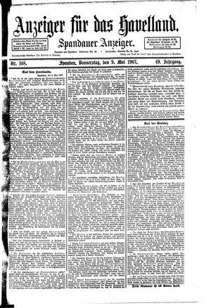 Anzeiger für das Havelland vom 09.05.1907
