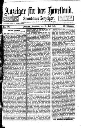 Anzeiger für das Havelland vom 11.05.1907