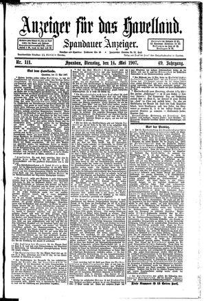 Anzeiger für das Havelland vom 14.05.1907