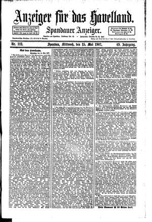 Anzeiger für das Havelland vom 15.05.1907