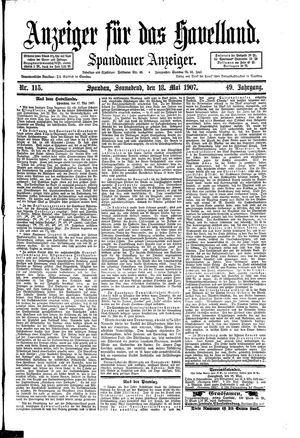 Anzeiger für das Havelland vom 18.05.1907