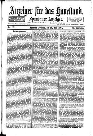 Anzeiger für das Havelland on May 26, 1907