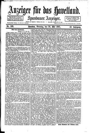 Anzeiger für das Havelland on May 28, 1907