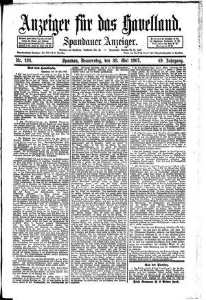 Anzeiger für das Havelland vom 30.05.1907