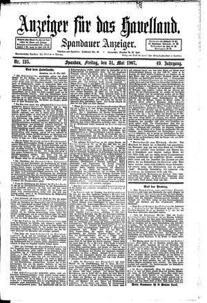 Anzeiger für das Havelland vom 31.05.1907