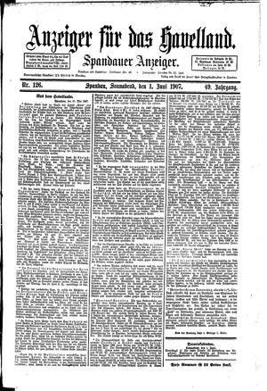 Anzeiger für das Havelland vom 01.06.1907