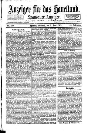 Anzeiger für das Havelland vom 05.06.1907